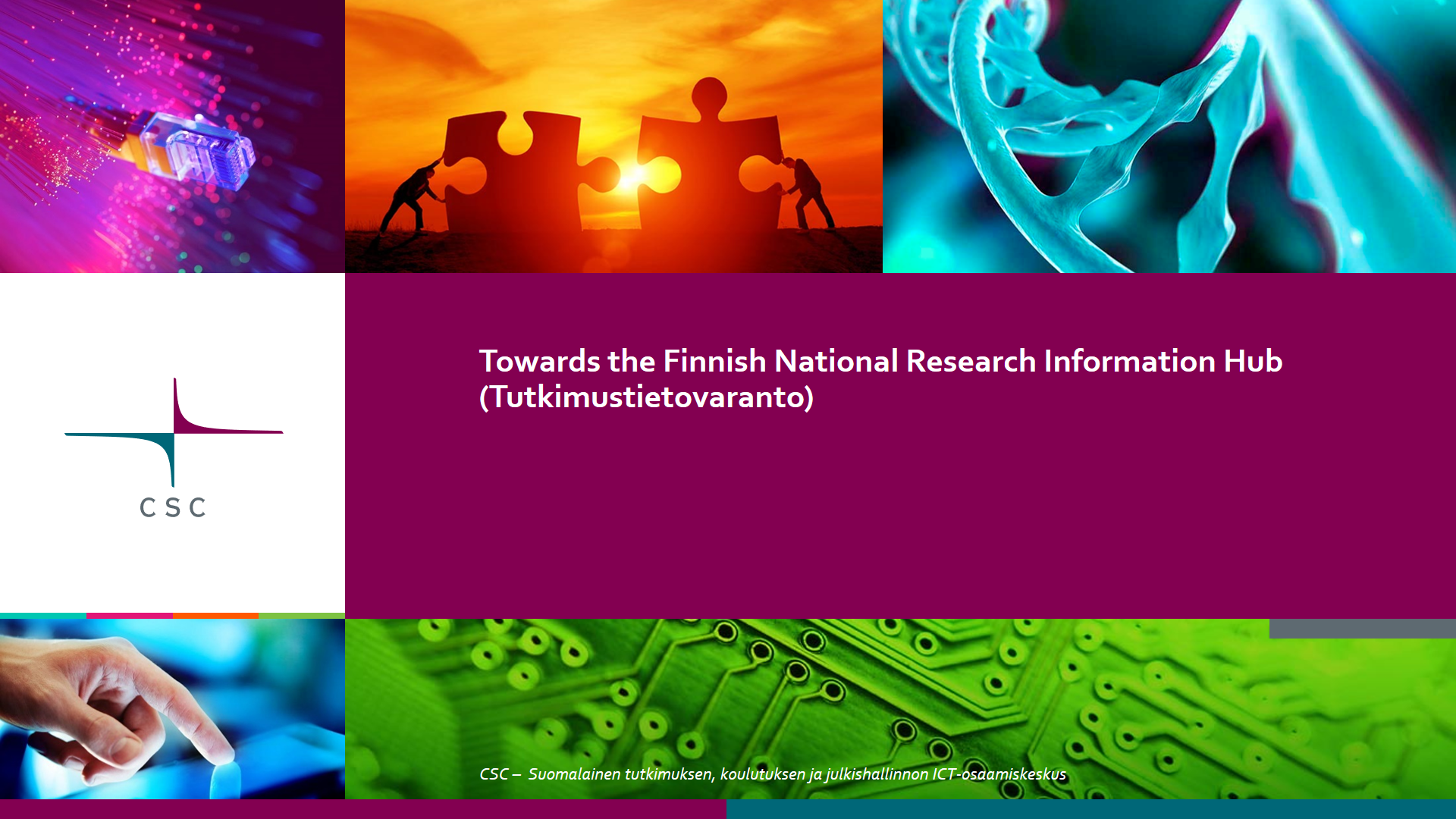 National Research Information Hub - introduction